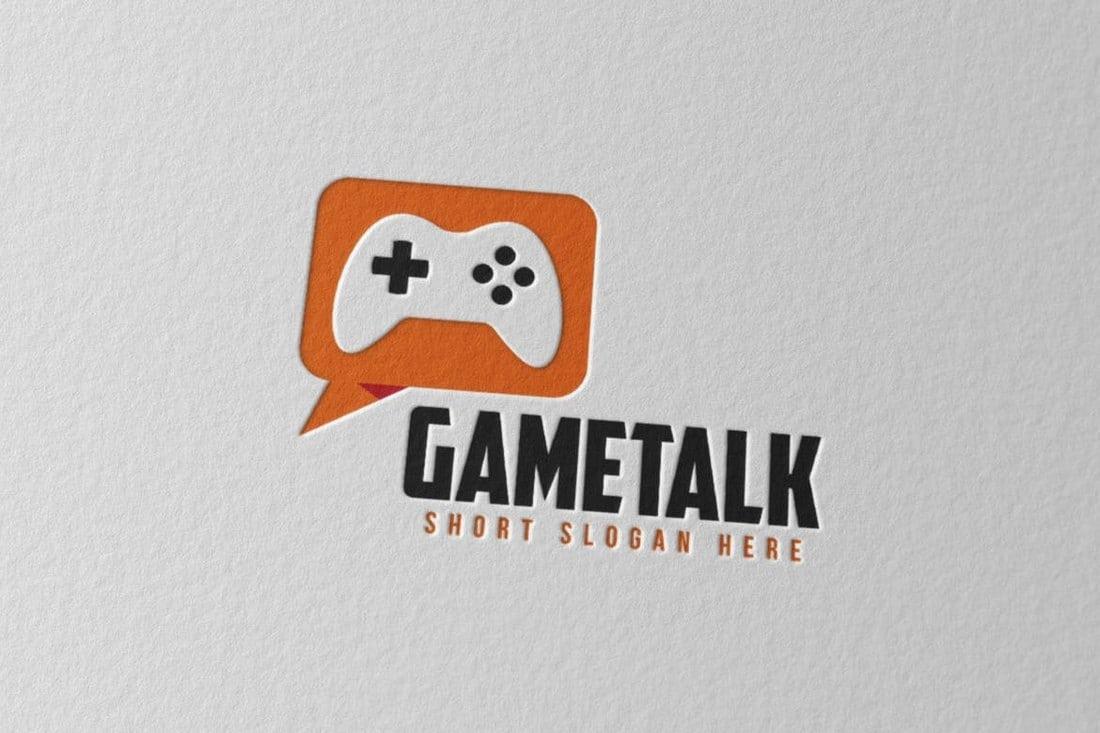 Gametalk Logo Template