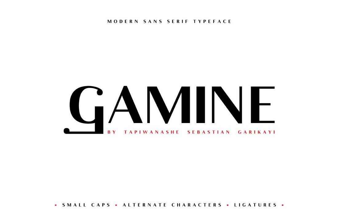 Gamine - Free Stylish Logo Font