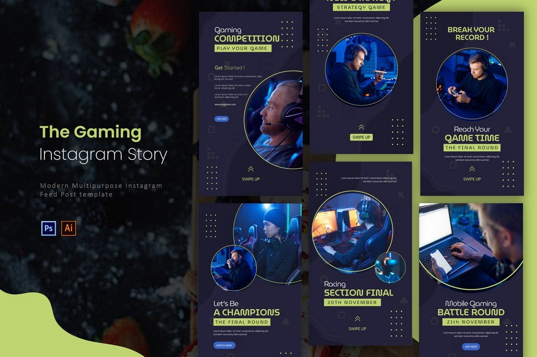 Gaming Competition Instagram Story Templates
