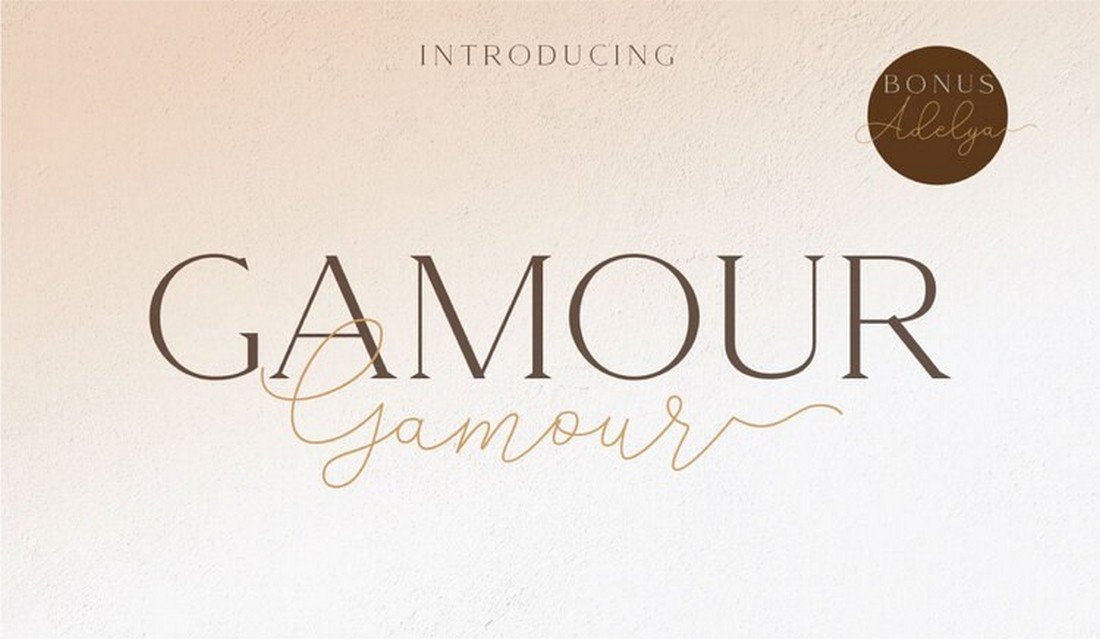 Gamour - Free Elegant Logo Font