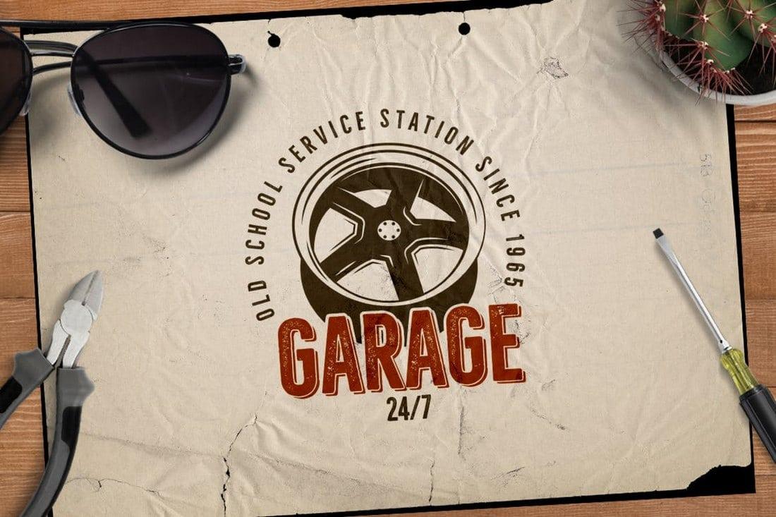 Garage - Car Service Emblem Retro Logo