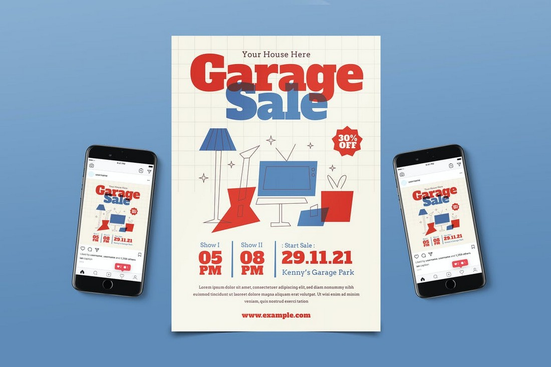 Garage Sale Flyer Template Pack