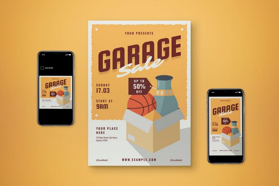 Garage Sale Flyer Template Set