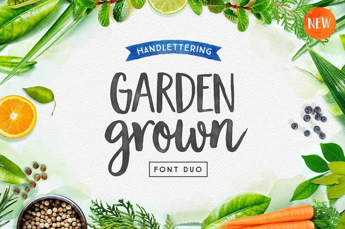 Garden-Grown-Font-Duo 100+ Beautiful Script, Brush & Calligraphy Fonts design tips