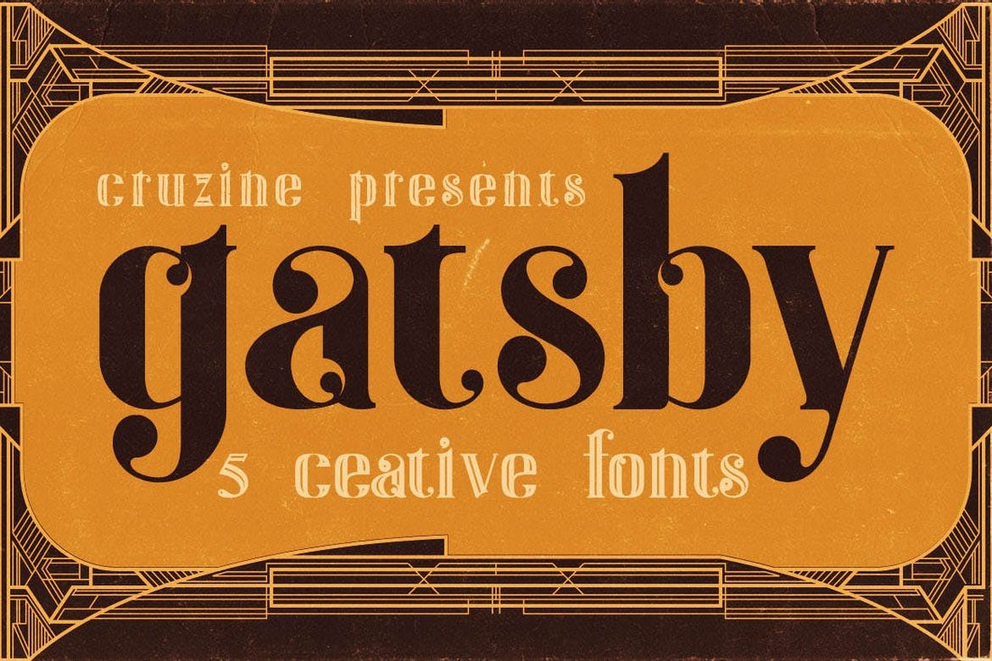 Gatsby-ArtDeco-Tattoo-Font 20+ Best Tattoo Fonts & Lettering design tips