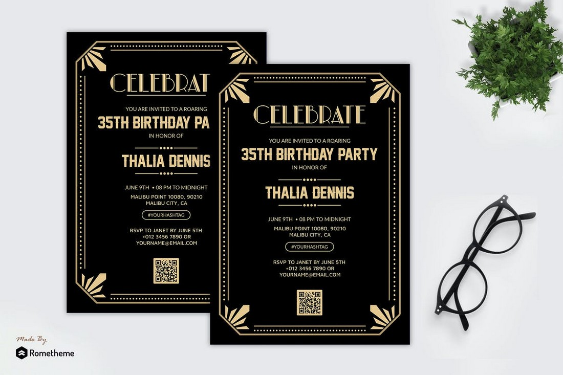 Gatsby Theme Party Flyer Template