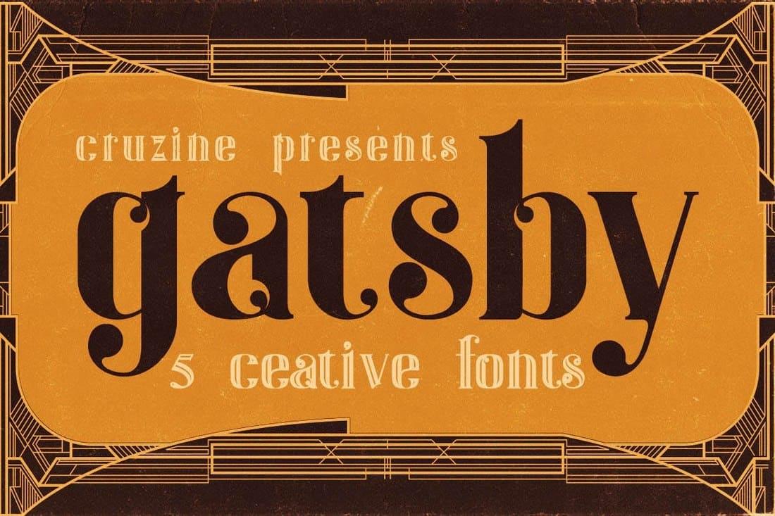 Gatsby - Vintage ArtDeco Font
