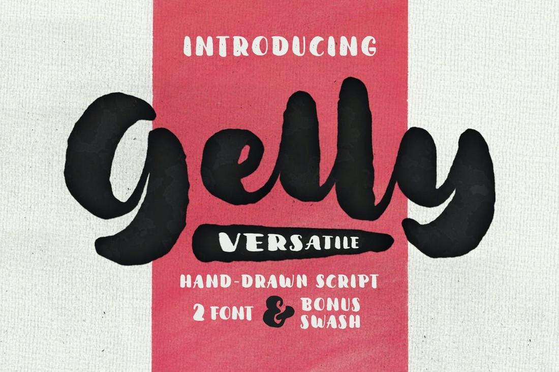 Gelly - Hand-Drawn Fat Font