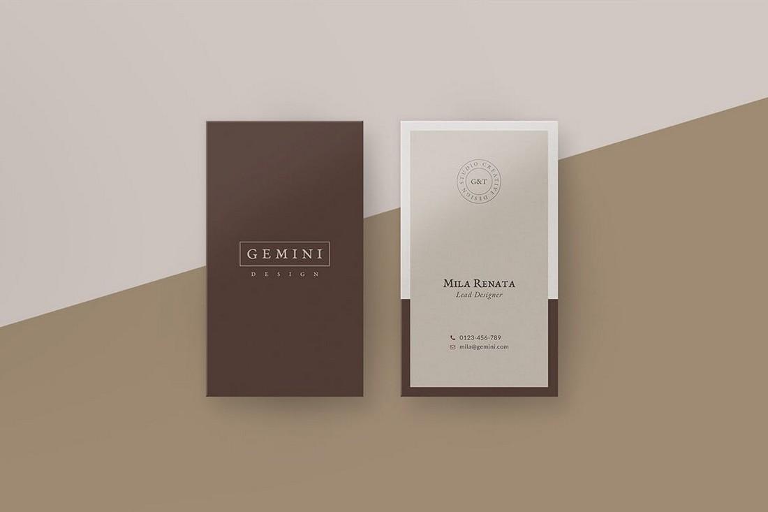 Gemini - Elegant Minimal Business Card Template