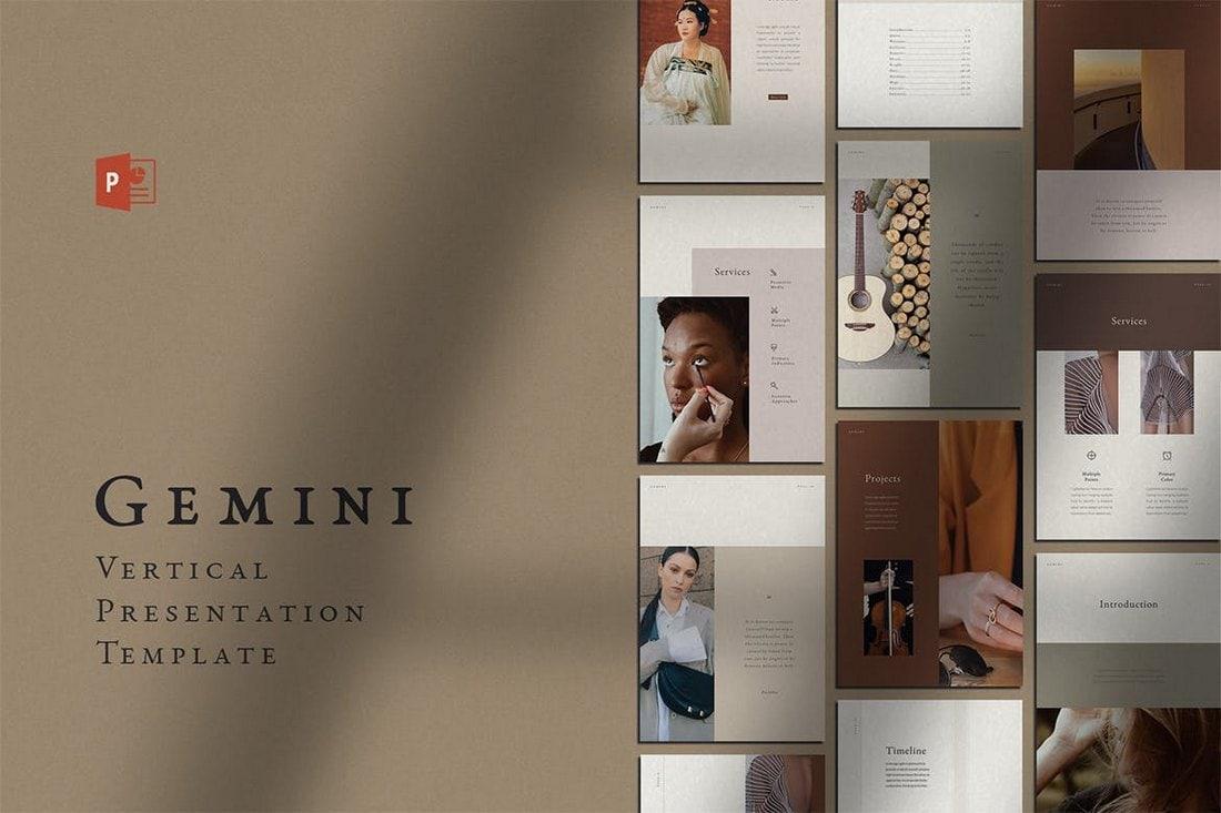 Gemini - Vertical PowerPoint Template