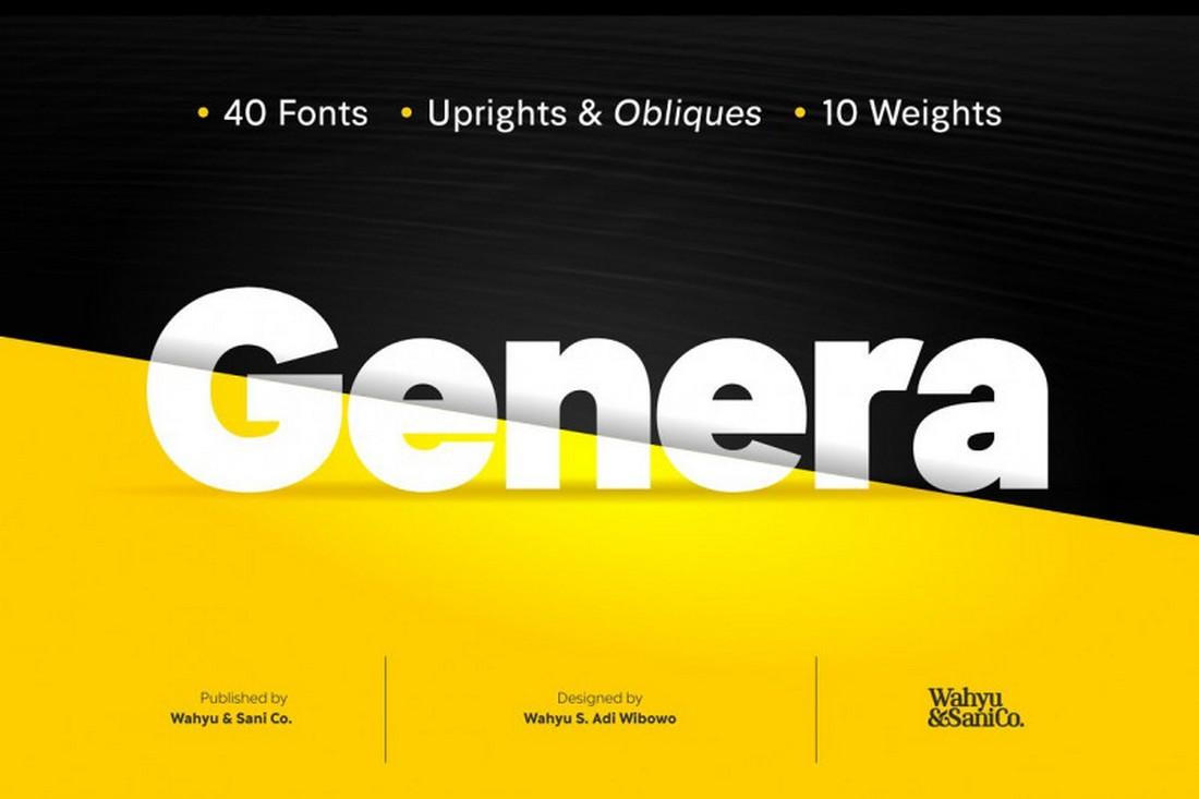 Genera Sans - Free Title Font