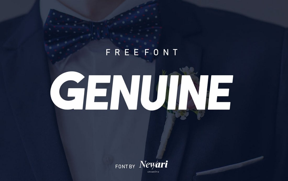 Genuine-Free-Condensed-Font 50+ Best Condensed & Narrow Fonts of 2020 design tips