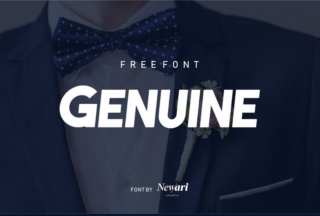 Genuine - Free Modern Title Font