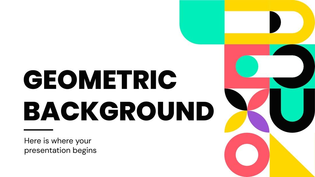 Geometric Background - Free Google Slides Theme