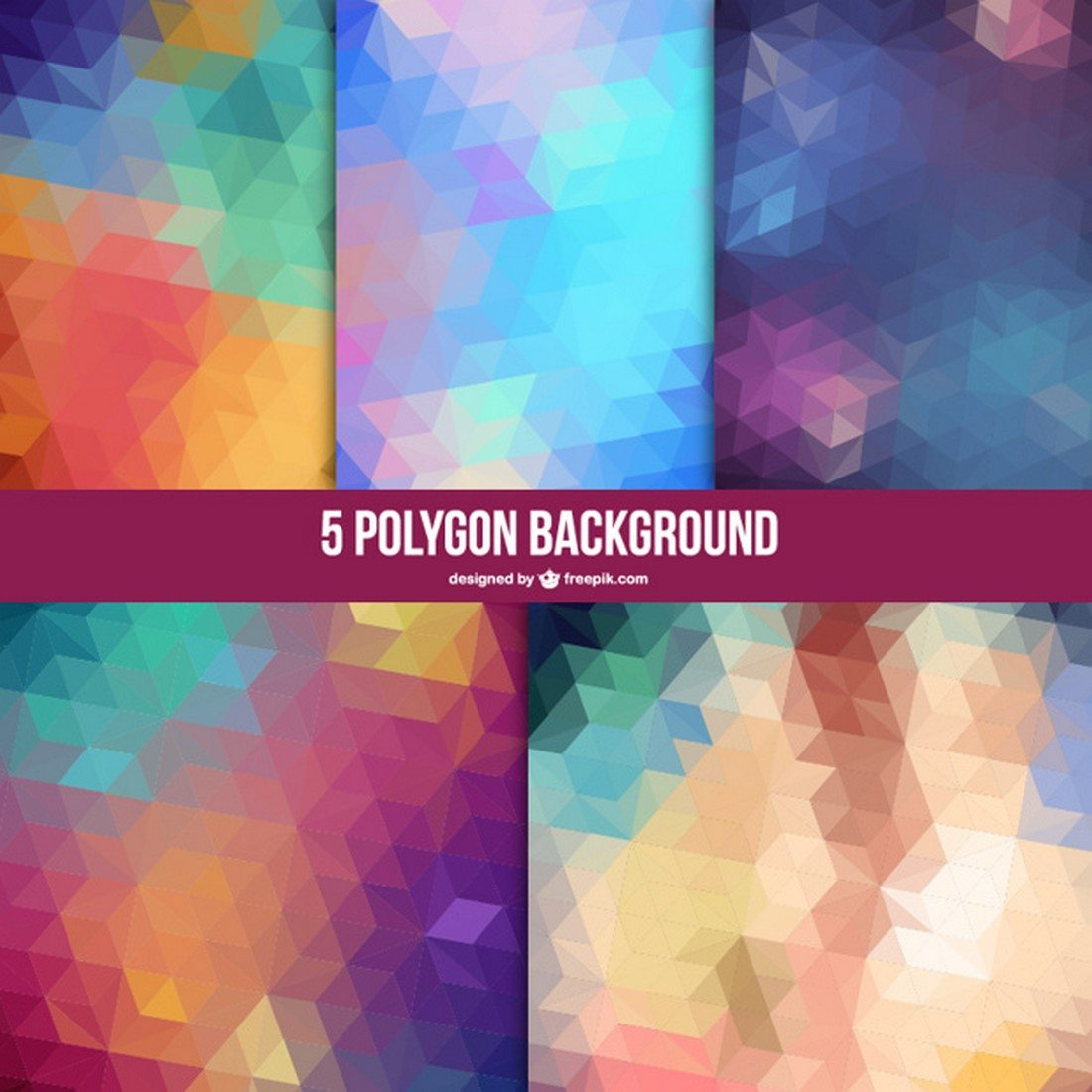 Geometric-Backgrounds-Set 20+ Beautiful Geometric & Polygon Background Textures design tips