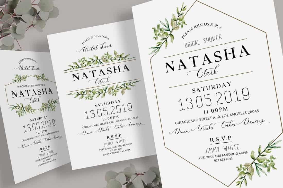 Geometric Bridal Shower Invitation Template