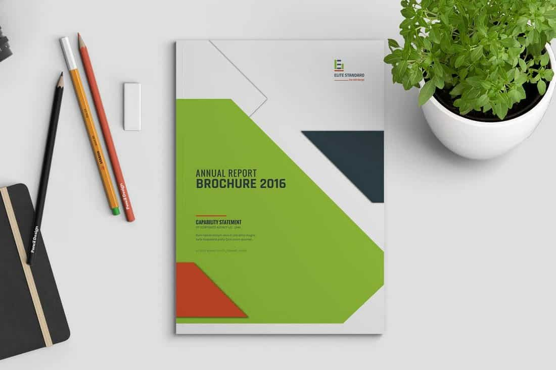 Geometric Business Brochure Cover Template