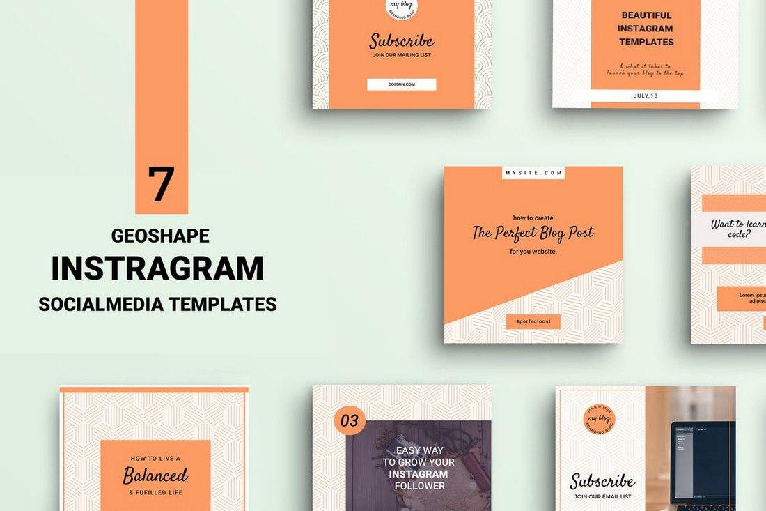 Geoshape-Instagram-Templates 30+ Best Instagram Templates & Banners design tips