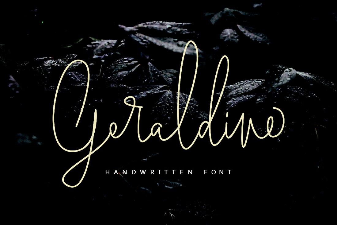 Geraldine-Free-Handwritten-Font 40+ Best Hand Lettering & Handwriting Fonts 2020 design tips  Inspiration|cursive|script