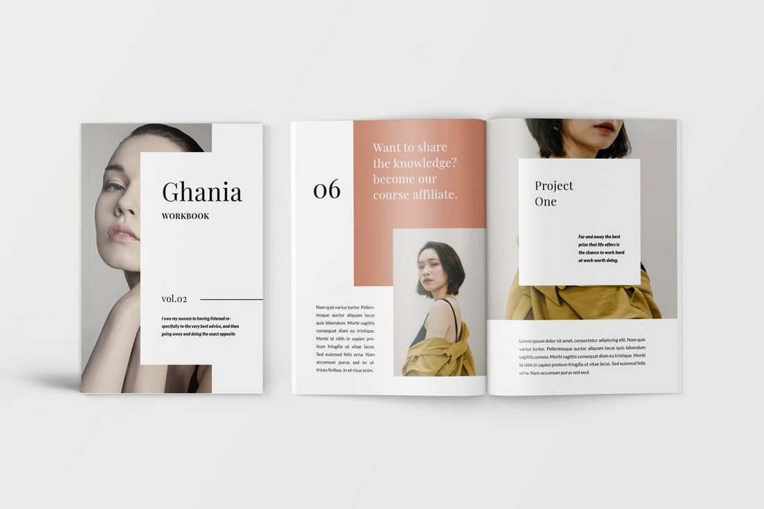 Ghania-Workbook-Lookbook-Word-Brochure 40+ Best Microsoft Word Brochure Templates 2020 design tips  Inspiration|brochure|templates