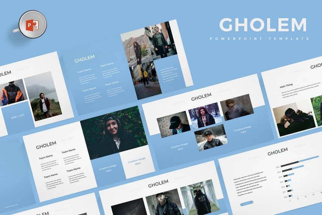 Gholem - Minimal Powerpoint Template
