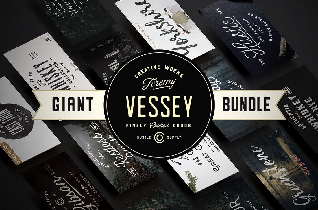 Giant-Bundle-56-Fonts 100+ Beautiful Script, Brush & Calligraphy Fonts design tips