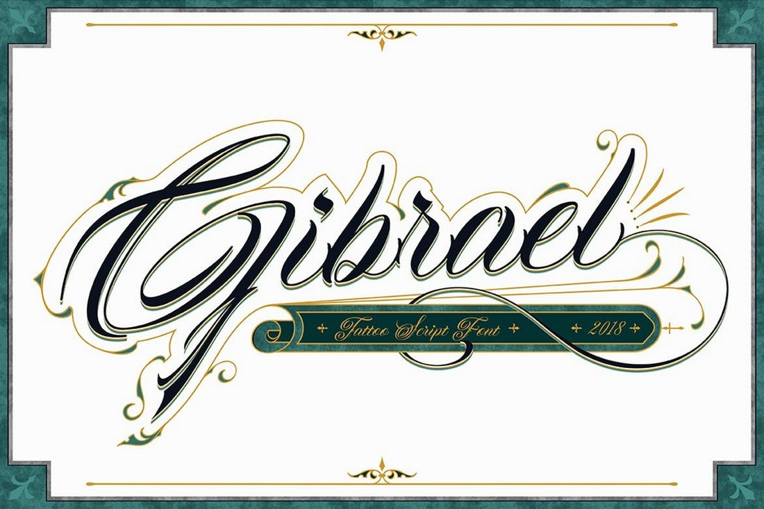 Gibrael-Tattoo-Font 20+ Best Tattoo Fonts & Lettering design tips