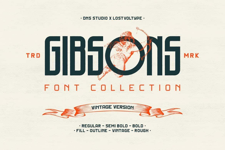 Gibsons Modern-Vintage Font
