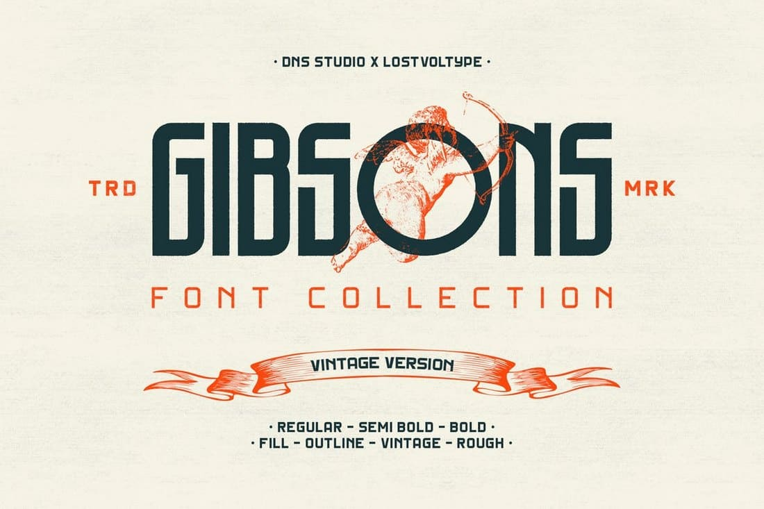 Gibsons Vintage Font Collection