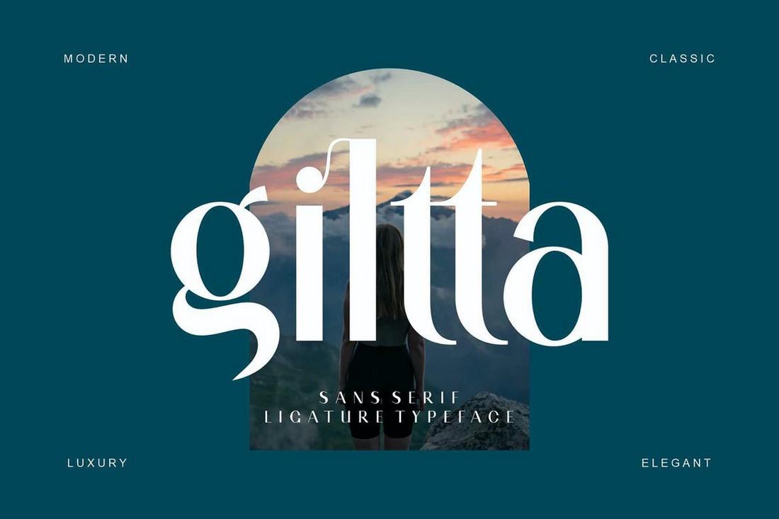Giltta - Modern Sans Serif Font