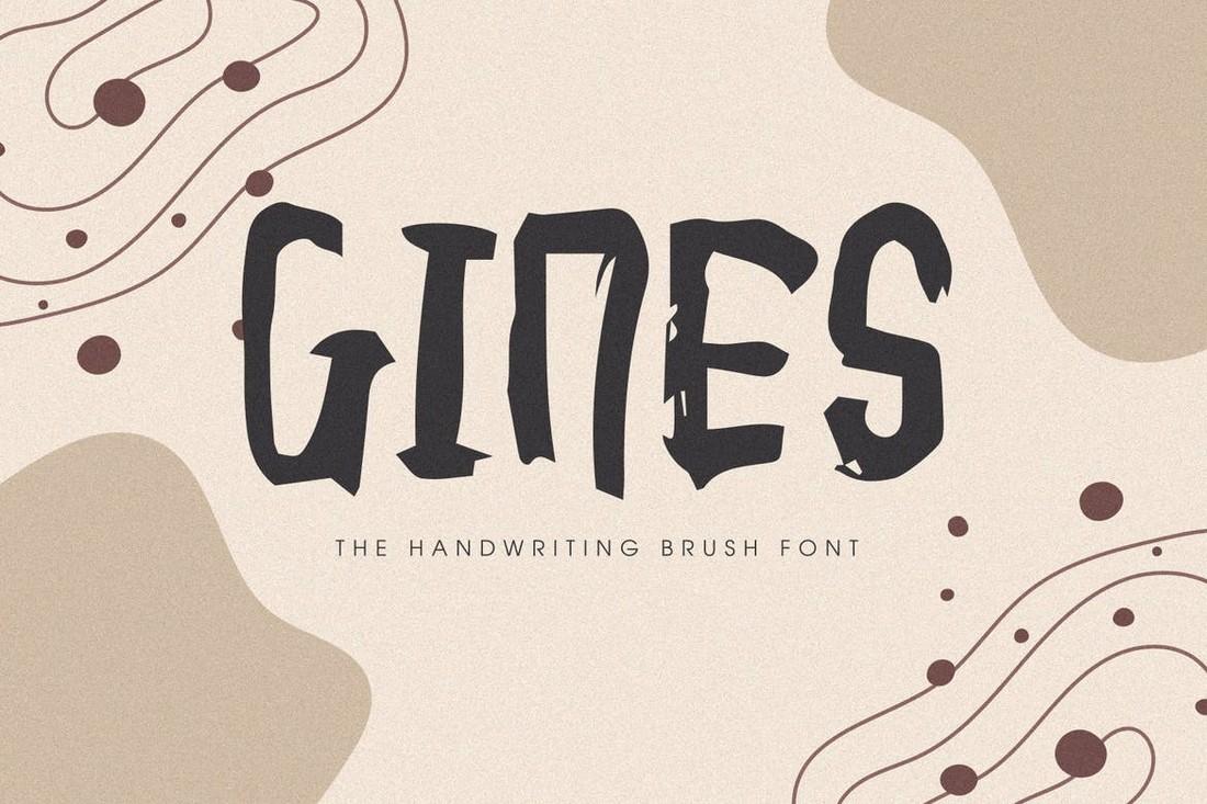 Gines - Unique Procreate font
