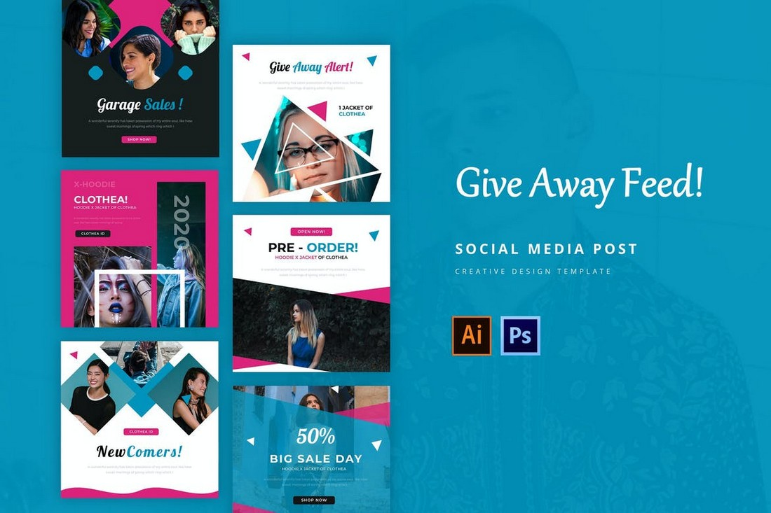 Give Away Social Media Post Templates