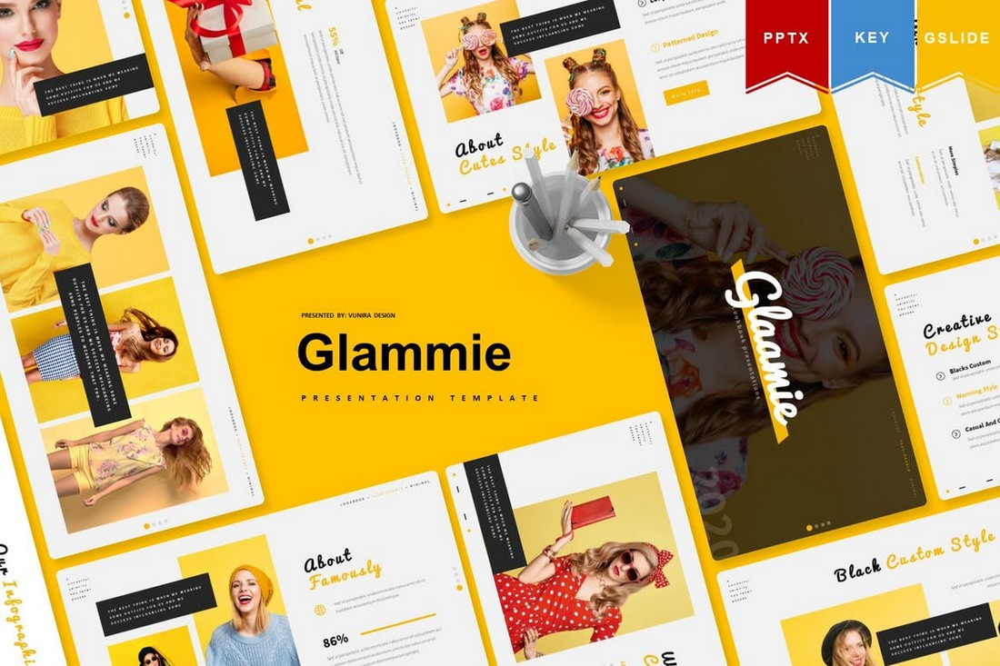 Glammie - Google Slides Presentation Template