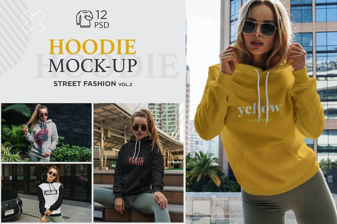 Glamorous-Fashion-Hoodie-Mockups 20+ Hoodie Mockup Templates (Free & Premium) design tips  Inspiration