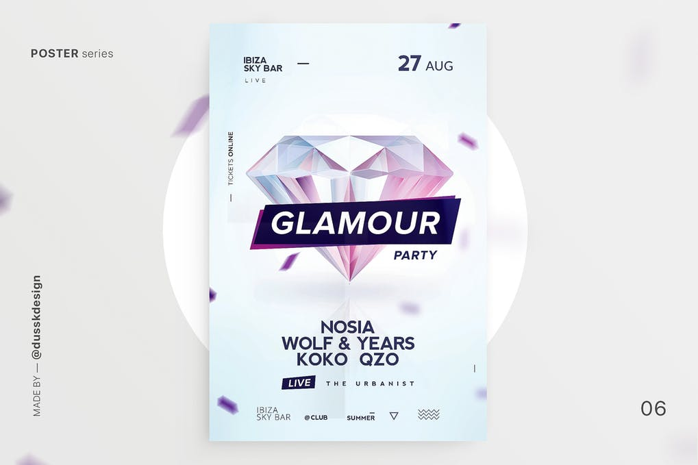 Glamour-Club-Flyer 20+ Best Club Flyer Templates design tips  Inspiration