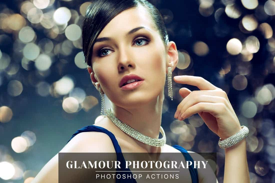 Glamour Photography - Portrait Photoshop Actions