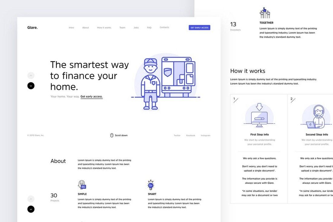 Glare - Multipurpose One-Page Website Template