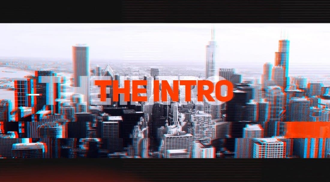 Glitch Effect After Effects Intro Template