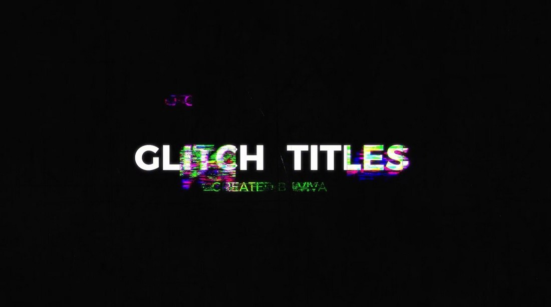 Glitch Title Templates for Davinci Resolve