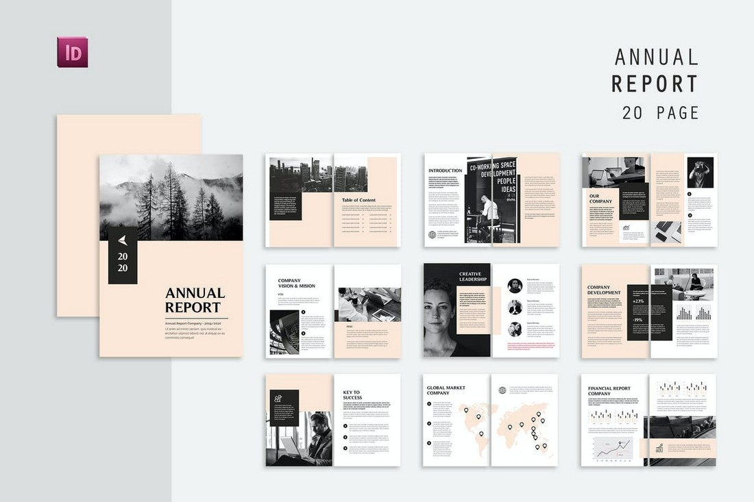 Global-Business-Annual-Report-Template 50+ Annual Report Templates (Word & InDesign) 2021 design tips