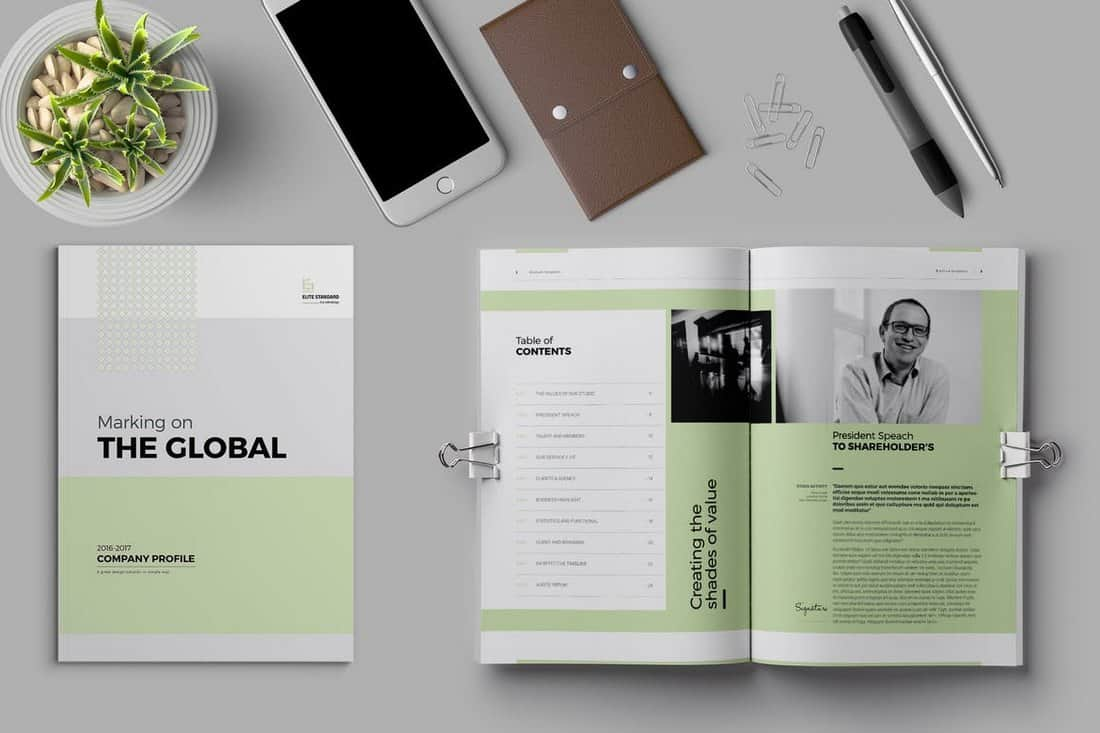 Global Company Profile Brochure Template