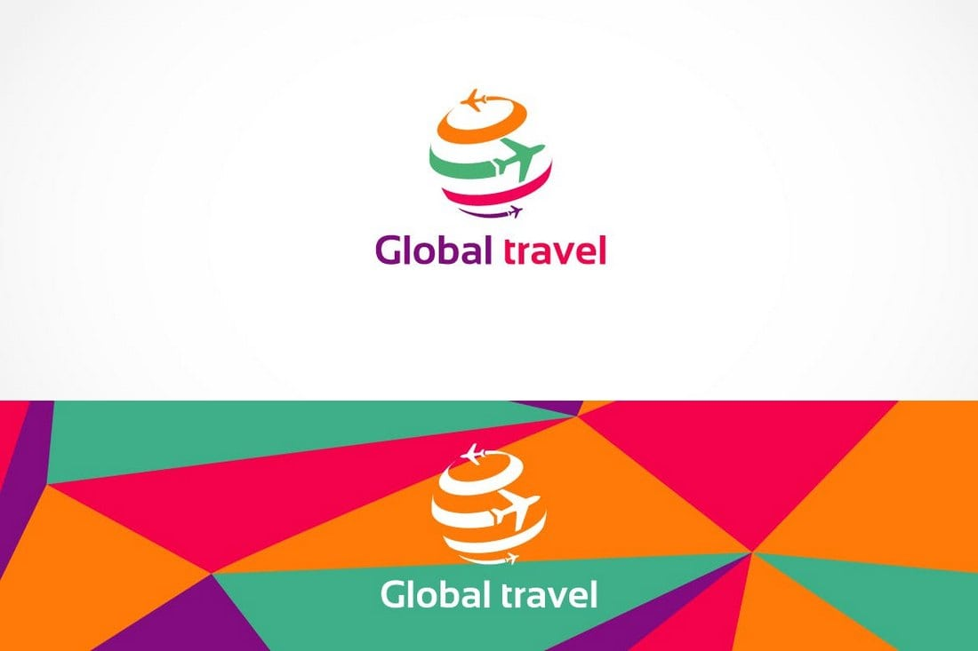 Global-Travel-Logo-Template 40+ Best Photoshop Logo Templates (PSD) design tips