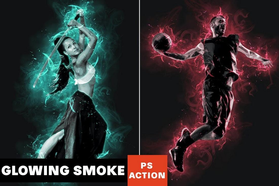 Glowing Smoke Effect Photoshop Action