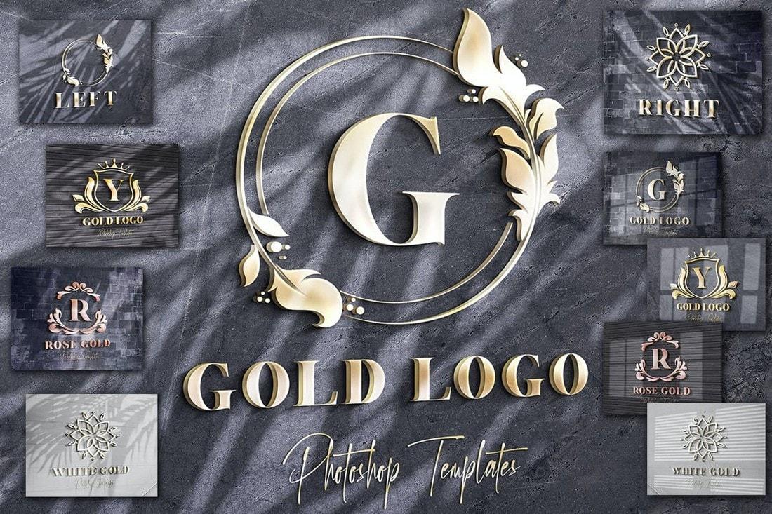 Gold-Text-Logo-Wall-Mockups 100+ Logo Mockup Templates (PSD & Vector) design tips