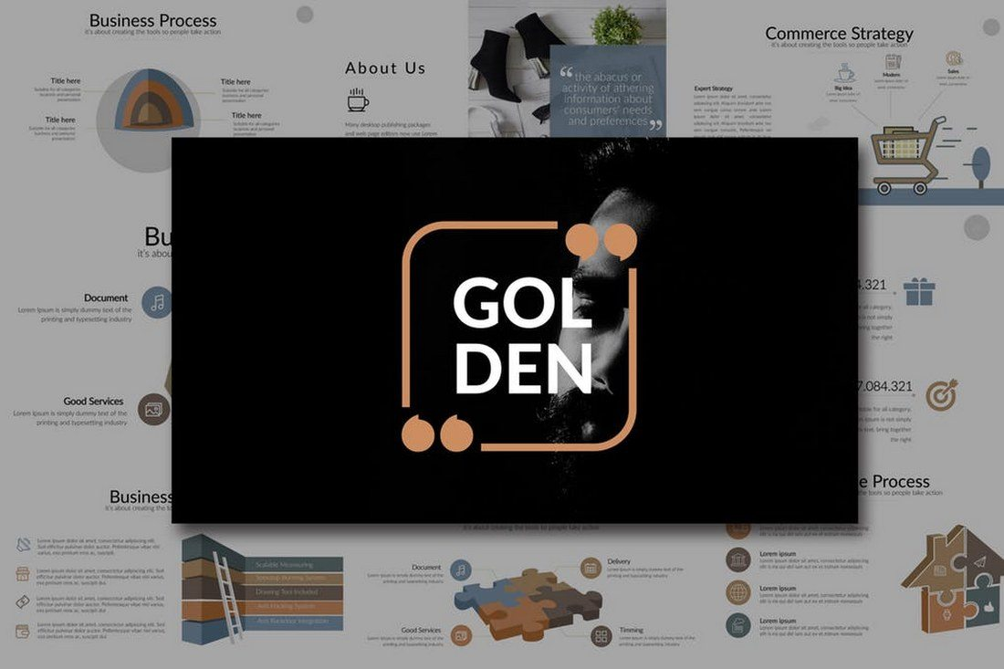 60 beautiful premium powerpoint presentation templates design golden powerpoint template price envato elements subscription toneelgroepblik Image collections