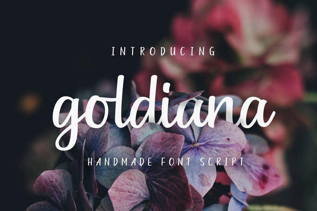Goldiana-Font-Script 40+ Best Hand Lettering & Handwriting Fonts 2020 design tips  Inspiration|cursive|script