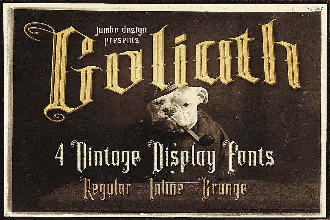 Goliath-Tattoo-Style-Display-Font 20+ Best Tattoo Fonts & Lettering design tips