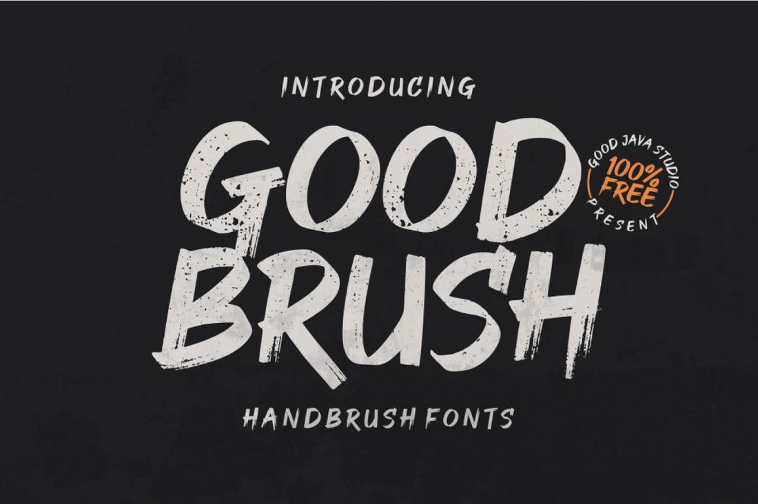 Good Brush - Free Hand-Made Brush Font