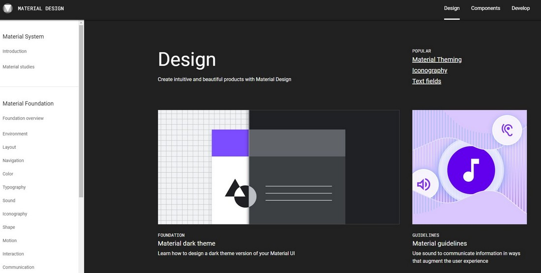 Google-Material-Design What Is a Design System & Why Use Them + Examples design tips