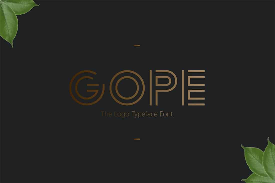 Gope-Logo-Signage-Typeface 30+ Best Fonts for Signs design tips  Inspiration